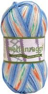 Mellanraggi Garn Ullmix 100g Blå Blomprint (28333)