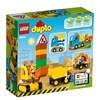 Lastebil og gravemaskin med belter, Lego Duplo (10812)