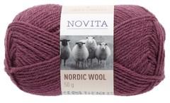 Novita, Nordic Wool, Ullgarn, 50 g, Røsslyng 554