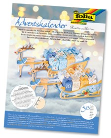 Adventskalender set i papper renar med paket