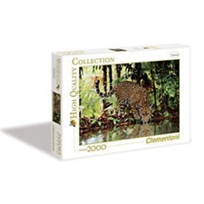 Puslespill HQC Leopard, 2000 brikker, Clementoni
