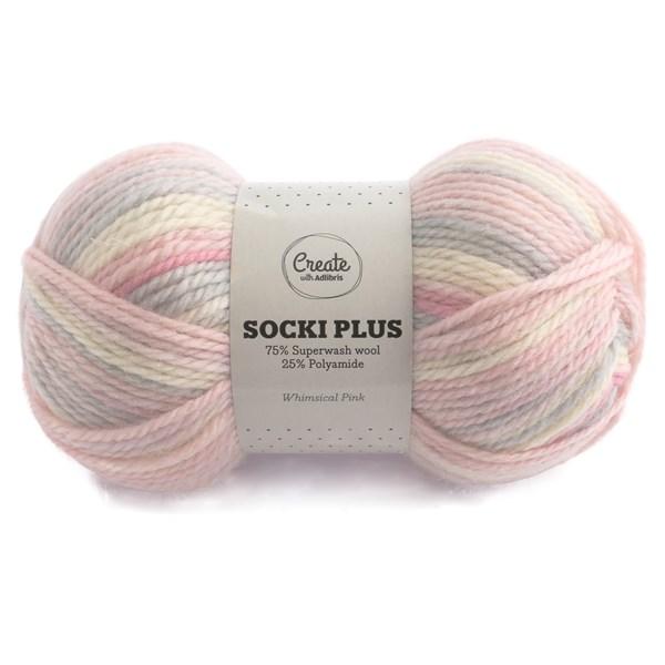 Adlibris Socki Plus Lanka 100g Whimsical Pink B031