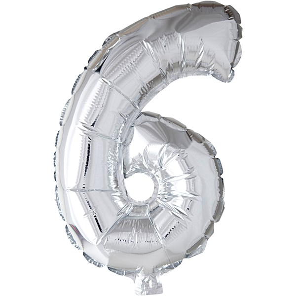 Ballong i Folie, H: 41 cm, 1 st., silver