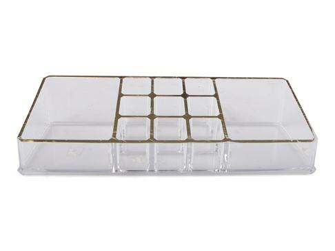 Form Living Förvaring smink Organisera 22x9x5 cm Klar Guld
