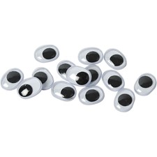 Liikkuvat silmät, koko 9x12 mm, liimattavat, 1000kpl