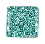 Glasmosaik 10x10 mm Aqua Glitter 185 g