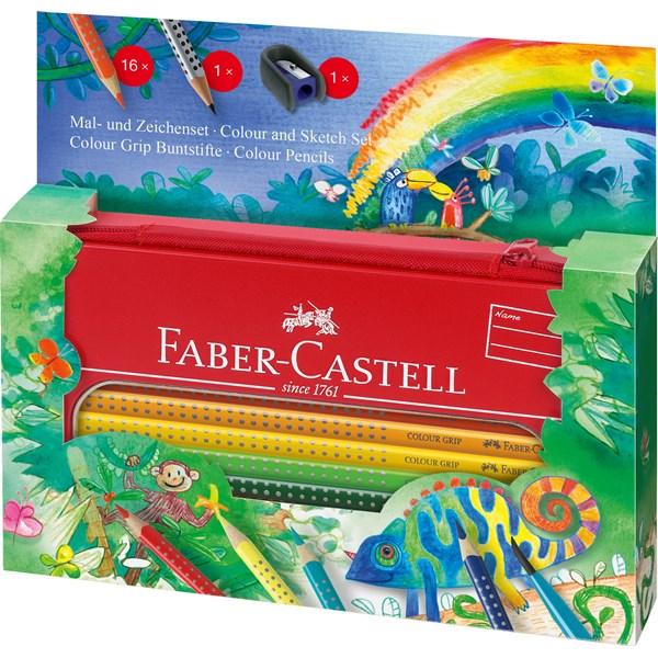 värikynät faber-castell grip color lahjapakkaus 16kpl