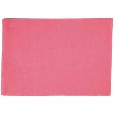 Hobbyfilt, A4 21x30 cm, tykkelse 1,5-2 mm, 10 ark, pink