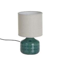 Lamppu keraamisella jalalla vihreä 15x27 cm