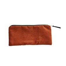 Makeup Bag / Clutch rost orange 25x11 cm