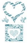 Silikonstämpel Love 10x18,5 cm