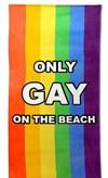 Only Gay On The Beach Håndduk