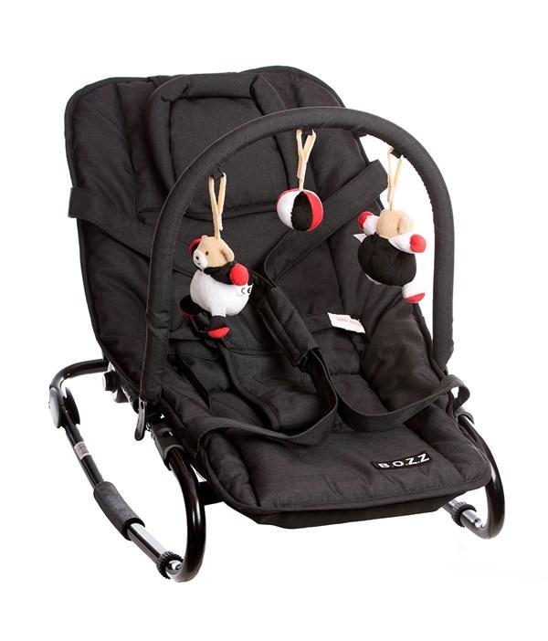 Babysitter Basic med lekbåge, Svart Melange, BOZZ