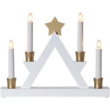 Star Trading Ljusstake Julle 33x6x26 cm Vit