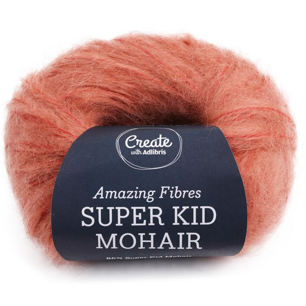 Adlibris, Super Kid Mohair, 25 g, Salmon & Peach A570