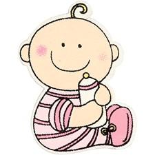 Baby, str. 24x35 mm, tykkelse 1,7 mm, 10 stk., pink