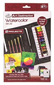 Akvarellfärg Medelstort Reseset med Online instruktioner Royal & Langnickel