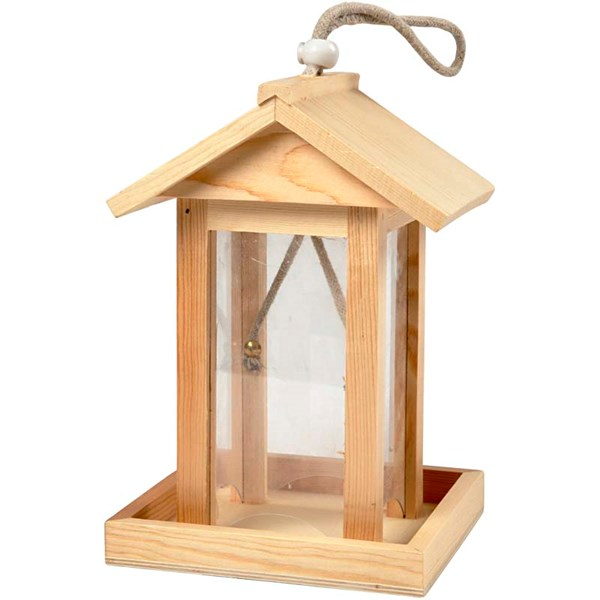 Fågelhus 14 5x14 5x21 5 cm Furu 1 st (furu) - träfigurer & träföremål