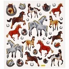 Klistermärken Glitter Hästar 1 Ark