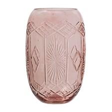 Bloomingville Vase Glass Diameter 9 cm, Høyde 15 cm Rosa