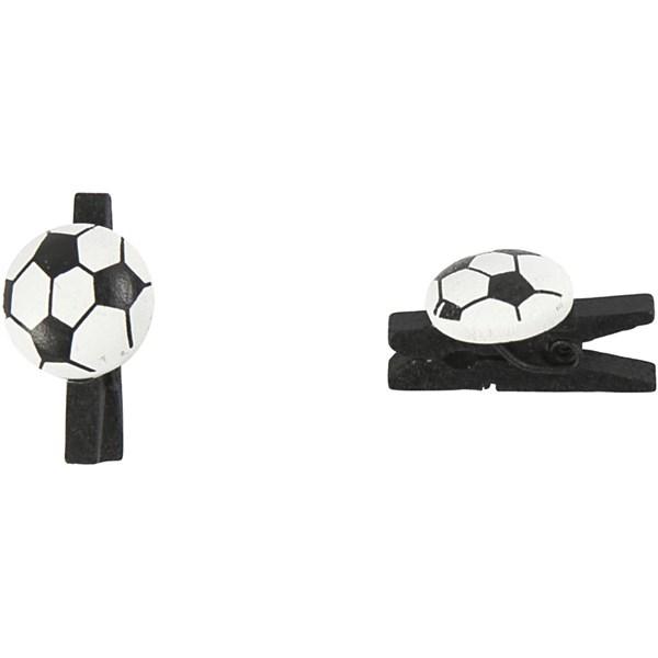Klämma Fotboll 14x25 mm 10 st Svart  Happy Moments (svart)
