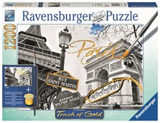 Touch of Gold Pussel 1200 bitar, Paris, Ravensburger