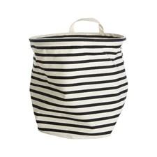 House Doctor Stripes Förvaringskorg Bomull/Polyester 30x30 cm Svart/Vit