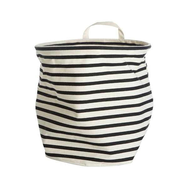 House Doctor Stripes Förvaringskorg Bomull Polyester 30x30 cm Svart Vit