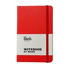 Notatbok A6 Linjert Adlibris Rød