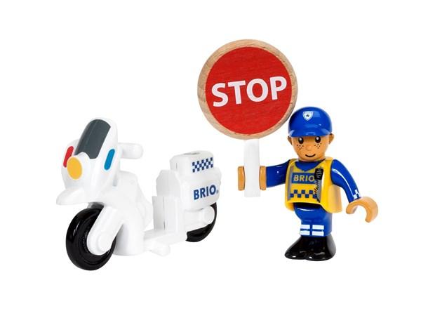 Brio Puujunarata Poliisin Moottoripyörä (33813)