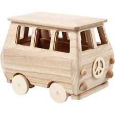 Minibuss, str. 17x10x13 cm, 1 stk., furu, keisertre