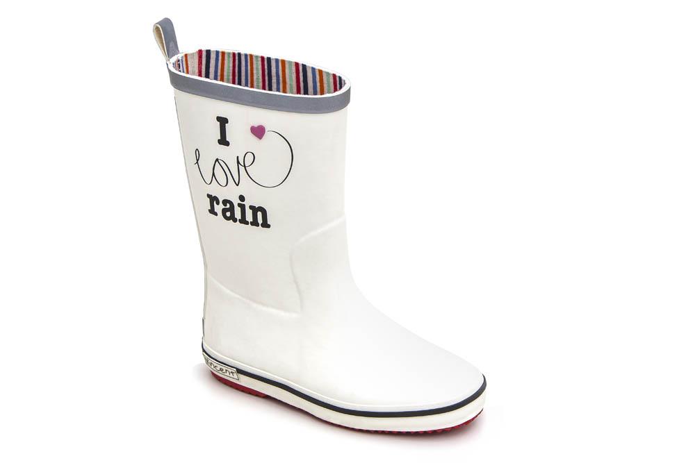 Gummistövel I love rain, Vit , Strl 31 36, Vincent