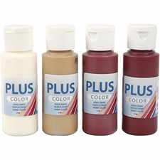 Plus Color hobbymaling, 4x60 ml