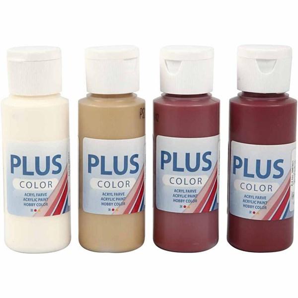 Plus Color hobbymaling, 4x60 ml