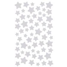 Klistremerke Stjerner, Sølv 4 blad
