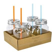 Modern House Maren Glasmugg med Lock 49 cl Klar 4-pack