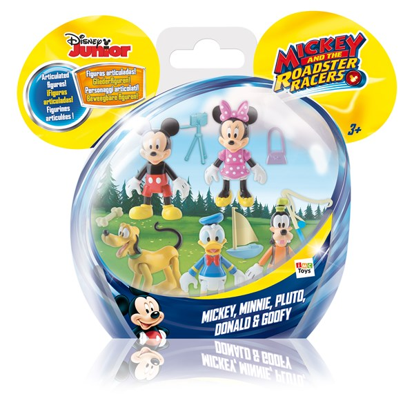Minifigurer 5-pack  Mickey & The Roadster Racers  Musse & Mimmi Pigg