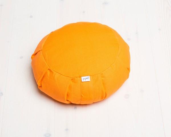 Meditationskudde, rund - yogiRAJ - Orange