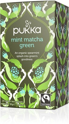 Pukka Te Mint Matcha Green Tepåsar 20 st Ekologisk