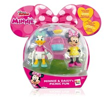 Minifigurset 2-pack, Mimmi Pigg & Kajsa Anka, Disney Junior - Minnie