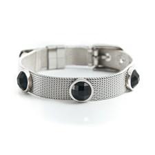 Belle Crystal Armband, Black silver