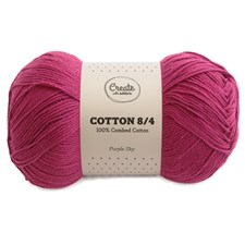 Adlibris Cotton 8/4 lanka 100g Purple Sky A095