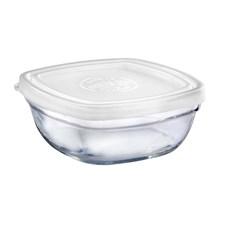Glasskål m/plastlokk, 11 cm, Klar, Duralex