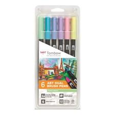 Brush Pen Ritpennor Tombow ABT Dual Brush Pastell 6-pack