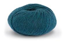 Knit At Home Chunky Alpaca Wool Garn Alpacka Ull Mix 50 g Blågrön Melange 625