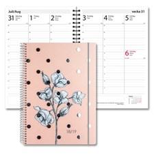 Kalender 18-19 Burde Study A5 Multi, blomma