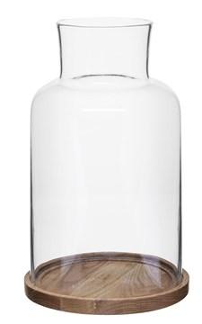 Sagaform Oval Oak Ljuslykta 36 cm Natur