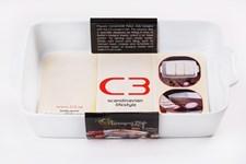 C3 Lasagneform 3-i-rad 36 x 21 cm Vit