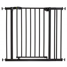 Sikkerhetsgrind Close'n Stop Safety Gate + 9 cm forlengning, Charcoal, Hauck