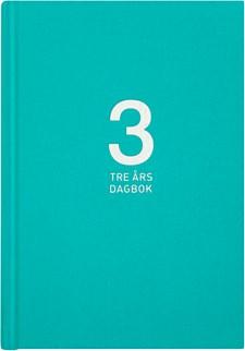 3-årsdagbok Burde Linnetextil Turkos